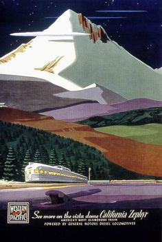 Vintage Poster: California Zephyr Vista Dome Train year is a guess Retro Poster, Poster Ads, Poster Prints, Retro Print, Poster Vintage, Train Posters, Railway Posters, Travel Ads, Train Travel