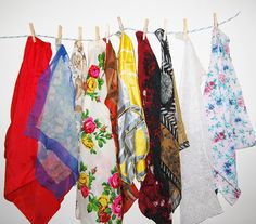 Vintage Scarves 1950's to 1980's Lot of Ten by CheekyVintageCloset