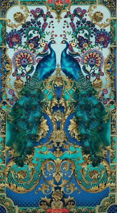 Hyde Park Peacock Cotton Fabric Collection by Timeless Treasures!  #TimelessTreasures