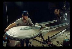 8 Ft. Filming Model of The U.S.S. EXCELSIOR.  First seen in STAR TREK III: The Search For Spock (1984)