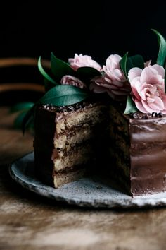Banana & Maple Layer Cake with Avocado Chocolate Frosting