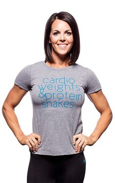 15f6a8393afb84 Bodybuilding.com Clothing Core Series Women s Protein Shakes Tee The magic  formula to gains!