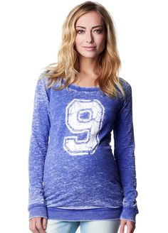Supermom - Number 9 Sweat Shirt in Blue
