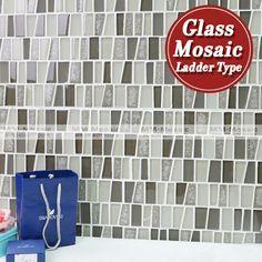 Kitchen Wall Decor Tiles Wholesale Manufactory Irregular Trapezoid Hot Melt Glass Mosaic