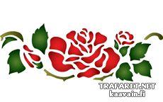 Розы и листья 36 (художественный трафарет)