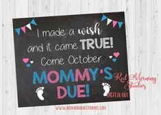 November 2018 Due Date Pregnancy Announcement PRINTABLE. Wish came true Mommys due Second Baby Announcements, Big Sister Announcement, Birth Announcement Template, Pregnancy Announcements, Sibling Pregnancy Reveal, Pregnancy Tips, Baby Due, Baby Birth, Baby Baby