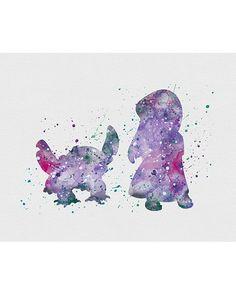 Lilo and Stitch Pelekai Watercolor Art