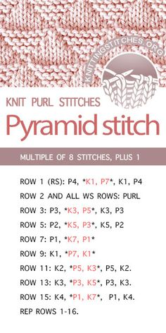 How to Knit the Lattice Cable Stitch Pattern with free knitting pattern and video tutorial by Studio Knit Knit Purl Stitches, Knitting Stiches, Knitting Patterns Free, Free Knitting, Crochet Patterns, Pattern Sewing, Free Pattern, Knitting And Crocheting, Baby Blanket Knitting Pattern Free