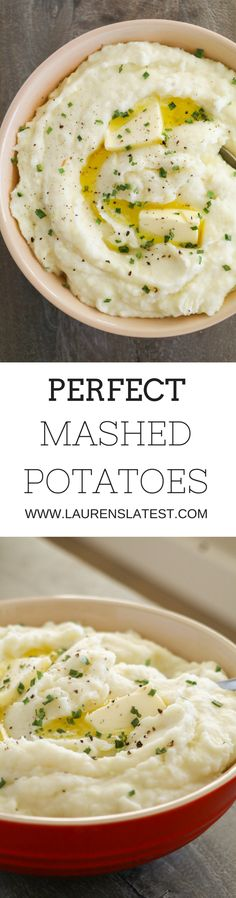 Perfect Mashed Potatoes....fail-proof creamy potatoes every single time!