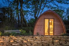 Glamping in Ireland, County Cork - Top of the Rock, Pod Páirc Glamping Holidays, Go Glamping, Ireland Vacation, Ireland Travel, Places To Stay In Ireland, Fish Pool, Camping Pod, County Cork Ireland, Holiday Break