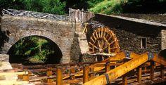 Ingenios hidráulicos en el Museo de los Molinos en Taramundi