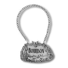 Foxhunt Pewter Bottle Tag - Bourbon