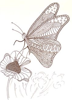 Free Hungry Butterfly Adult Coloring Page. #FaveCrafter