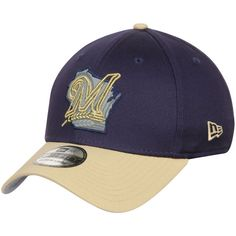 Milwaukee Brewers New Era State Flective 39THIRTY Flex Hat - Navy/Gold - $20.99