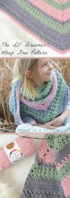 A lovely shawl or scarf crochet pattern for a little one! It's easy to make it just the right size and it's super trendy and cute!
