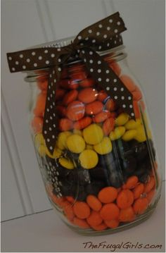 Candy Gifts in a Jar