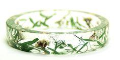 Green Jewelry-Green Bracelet- Flower Bracelet- Flower Jewelry- Resin Jewelry- Jewelry for Summer- Green Foliage- Green Jewelry. $25.00, via Etsy.