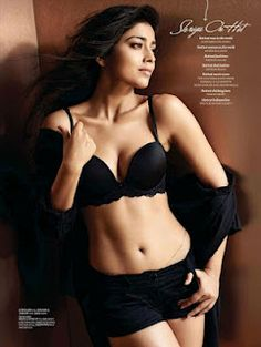 Shriya Saran's Pictures from Maxim Magazine August 2012.   Bollywood Cleavage