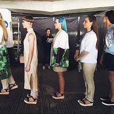 #fbf // Modelling in Falmouth Uni Fashion Design grad show
