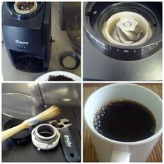 Don't forget to clean your burr grinder for a better tasting coffee or espresso