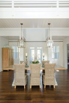 Coastal dining room.