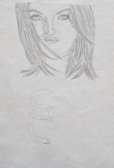 Bleistiftzeichnung, Sarah Connor, Cover vom 2. Album