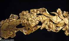 Gold wreaths like the one found were meant to imitate the wreaths of real leaves that were worn in Ancient Greece in religious ceremonies and given as prizes in athletic and artistic contests https://ancientpeoples.tumblr.com/post/62527320868/wreath-gold-4th-century-bc-greek-source