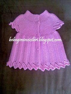 KIZIMIN CİCİLERİ: HEDİYELİK PEMBİŞ YELEK Baby Clothes Patterns, Baby Knitting Patterns, Clothing Patterns, Crochet Patterns, Crochet Baby, Crochet Top, Knit Vest, Knitting For Kids, Baby Design