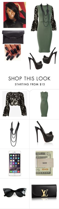 """""""Church!!!!"""" by cogic-fashion ❤ liked on Polyvore featuring Alexis, Chanel, Christian Louboutin and Givenchy"""