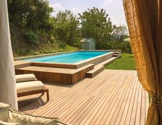 With the summer swimming season just around the corner, now's the perfect time to renovate that backyard and install a swimming pool. im garten ecke 41 Fantastic Outdoor Pool Ideas — RenoGuide - Australian Renovation Ideas and Inspiration Small Backyard Pools, Backyard Pool Landscaping, Backyard Pool Designs, Small Pools, Swimming Pools Backyard, Outdoor Pool, Small Backyards, Semi Inground Pool Deck, Diy Pool