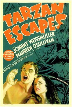 Tarzan Escapes starring Johnny Weissmuller and Maureen O'Sullivan