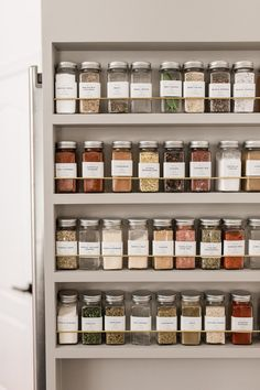 spice rack organization ideas A pro shares kitchen organization tips that'll help anyone shape up their space—even if storage is at a minimum. Spice Rack Organization, Kitchen Organization Pantry, Home Organisation, Organized Kitchen, Organization Ideas For The Home, Kitchen Storage Jars, Organized Home, Spice Rack In Kitchen, Spice Rack Next To Stove