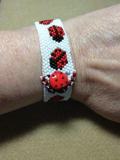 Ladybug bracelet (for Gerri)