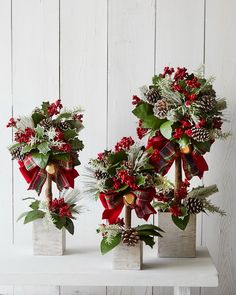 Christmas topiary photo only from a catalogue Christmas Topiary, Christmas Decorations For The Home, Christmas Flowers, Christmas Centerpieces, Rustic Christmas, Xmas Decorations, Christmas Home, Christmas Holidays, Christmas Wreaths