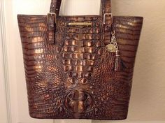 Brahmin Asher Tote Fall Tortoise Croco Melbourne Leather | eBay