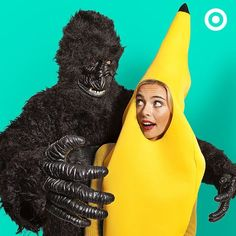 "Behold the most ap""peel""ing couples Halloween costume yet - a gorilla and his beloved banana."