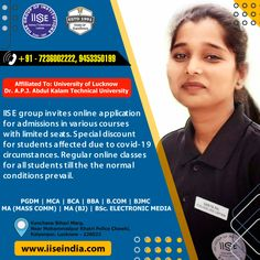 IISE group invite online application for admissions in various courses with limited seats. Special discount for students affected due to covid-19 circumstances. Regular online classes for all students till the the normal conditions prevail. IISE GROUP OF INSTITUTIONS Call Us: +91 7236002222, 9453350199 Website: www.iiseindia.com #thanksCovidwarriors #ADMISSIONOPEN #PGDM #MCA #BBA #BCA #BJMC #BCOM #MAMC #MABJ #BAMC #BSCMC #LucknowUniversity