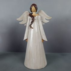 Clay Angel, Diy Nativity, Art Deco Bedroom, Ceramic Angels, Angel Crafts, Ceramic Decor, Bottle Art, Clay Projects, Clay Art