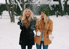 Best friend pictures during the winter winterbestfriendpics bffs. Snow Pictures, Bff Pictures, Best Friend Pictures, Friend Photos, Bff Pics, Best Friend Goals, Best Friends, Happiness Therapy, Bffs
