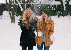 snow, winter, winter photoshoot, twins, best friend, inspo