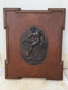 Low Relief Bronze Representative Hades Signed Manigot Foundry Barbedienne, Giron Antiquités, Proantic