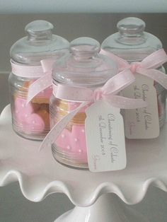 Christening Cookie Favor Jars,  Go To www.likegossip.com to get more Gossip News!