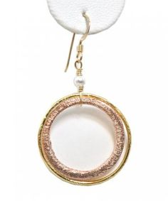 DWNY patti earring, gold and rose gold