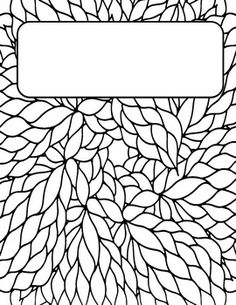 These coloring Binder Covers are so fun! They are perfect for for teenagers or teachers. Such a fun way to dress up your binders! Colouring Pages, Adult Coloring Pages, Coloring Sheets, Coloring Books, Notebook Cover Design, Notebook Covers, Diy Back To School Supplies, School Binder Covers, Binder Cover Templates