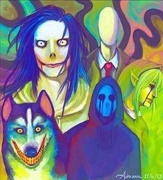 Jeff, Slendy, Smile dog, eyeless jack, BEN :33