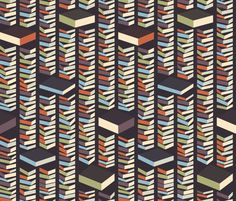Stacks fabric by chris_jorge on Spoonflower - custom fabric - Library - books fabric