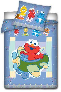 """Ulica Sezamkowa  """"Elmo w samolocie"""" pościel do łóżeczka 100x135"""