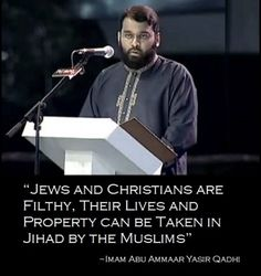 "Muslim Imam in Tennessee PREACHES ""Jews & Christians are Filthy, Their Lives & Property can be Taken in Jihad by Muslims"" in America"