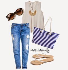 outfits casuales con jeans verano - Buscar con Google