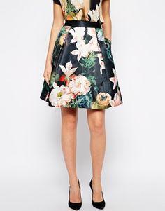 Enlarge Ted Baker Skirt in Opulent Bloom Print